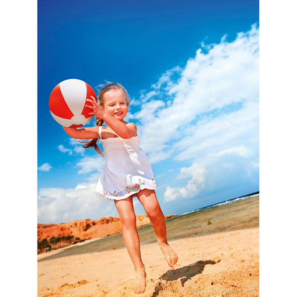 Мяч надувной пляжный IT1627-05 PLAYTIME, красный