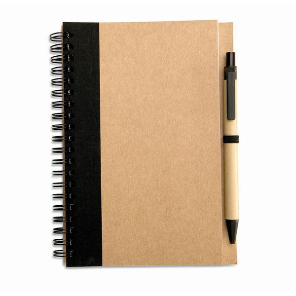 Блокнот с ручкой IT3775-03 SONORA PLUS, черный