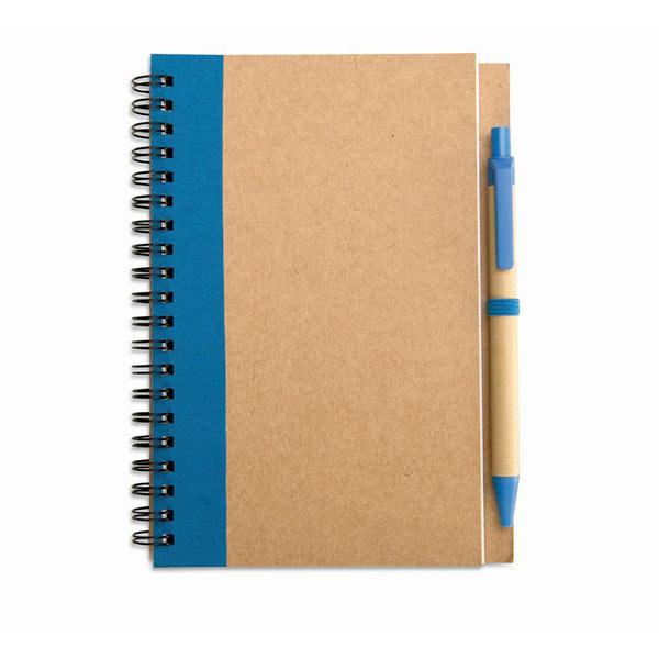 Блокнот с ручкой IT3775-04 SONORA PLUS, синий