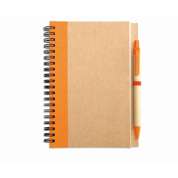 Блокнот с ручкой IT3775-10 SONORA PLUS, оранжевый
