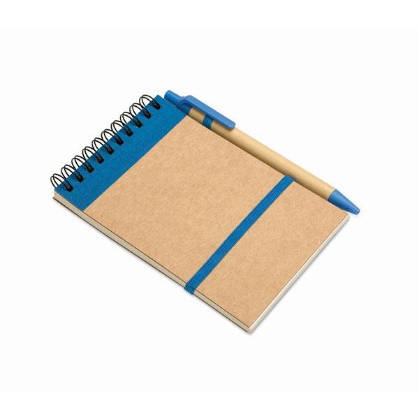 Блокнот с ручкой IT3789-04 SONORA, синий