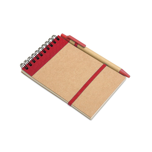 Блокнот с ручкой IT3789-05 SONORA, красный