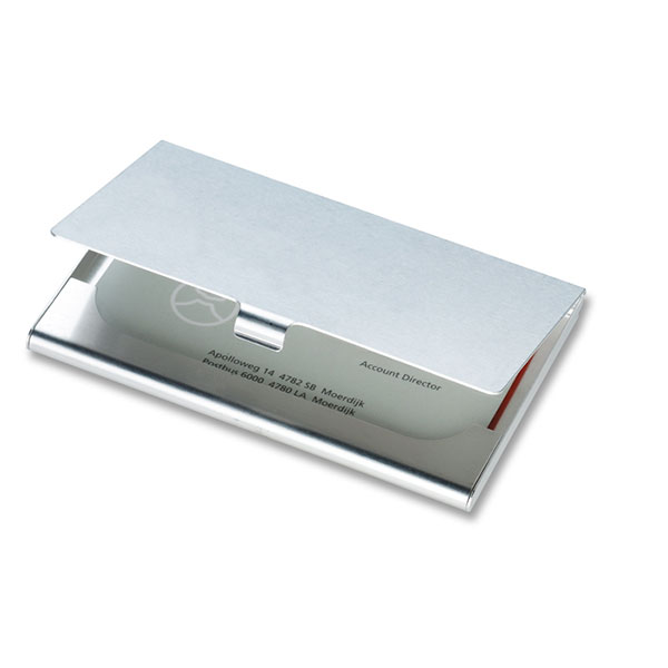 Визитница KC2225-17 EPSOM, блестящее серебро