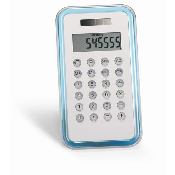 Калькулятор KC2656-23 CULCA, прозрачный синий