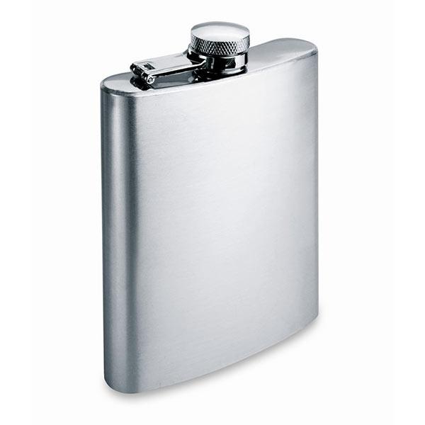 Фляга плоская 200 мл KC4703-16 SLIMMY FLASK, матовое серебро
