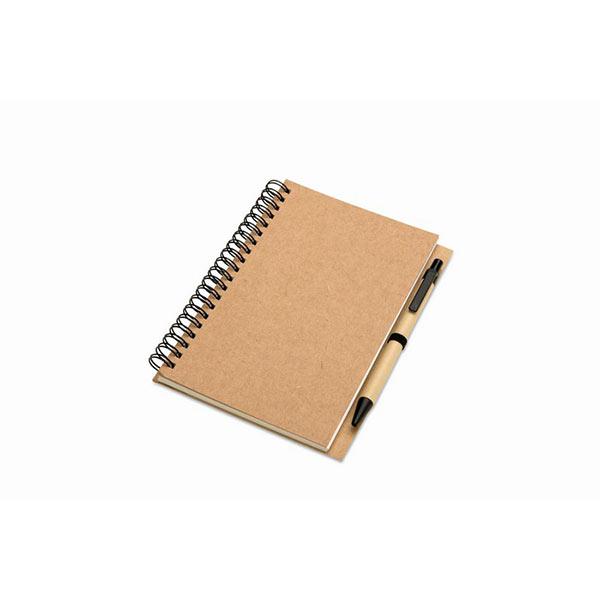 Блокнот с ручкой KC7012-13 BLOQUERO, бежевый