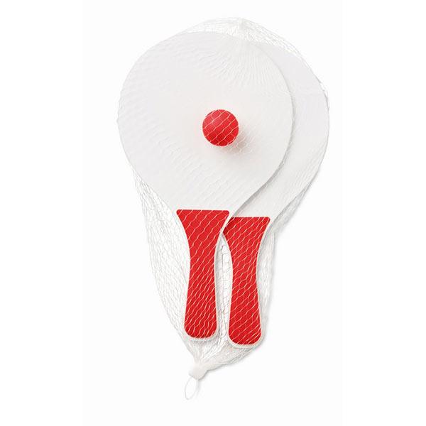 Теннис пляжный MO1911-05 MINI MATCH, красный