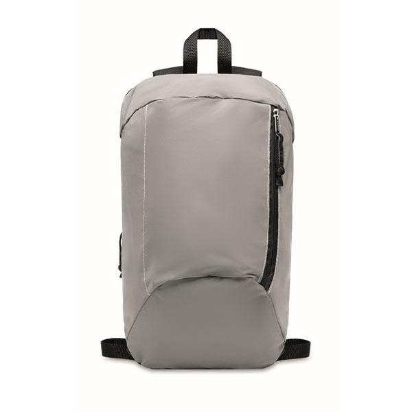 Светоотражающий рюкзак 600D MO6131-16 VISIBACK, матовое серебро