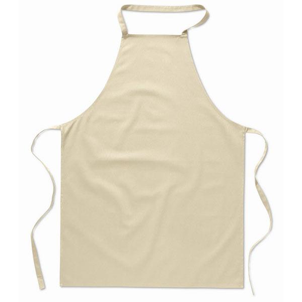 Кухонный фартук из хлопка MO7251-13 KITAB, бежевый