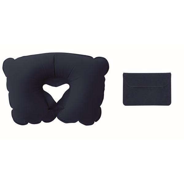 Подушка надувная в чехле MO7265-04 TRAVELCONFORT, синий