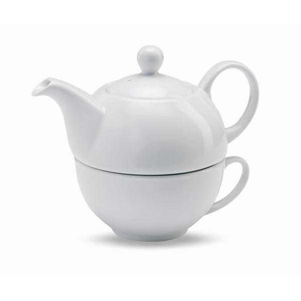 Чайник с чашкой MO7343-06 TEA TIME, белый