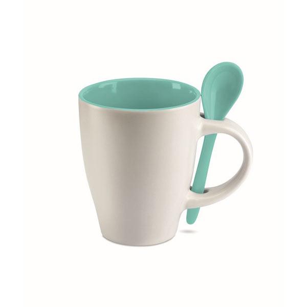 Чашка с ложкой MO7344-04 DUAL, синий