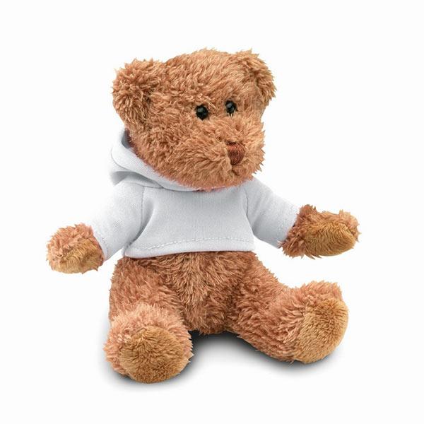 Медведь в футболке MO7375-06 JOHNNY, белый