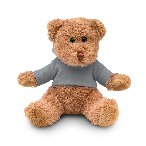 Медведь плюшевый в футболке MO7375-07 JOHNNY, Серый