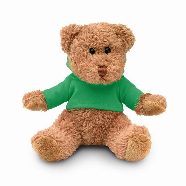 Медведь плюшевый в футболке MO7375-09 JOHNNY, зеленый