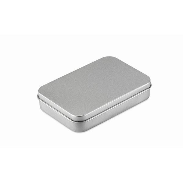 Игральные карты в коробочке MO7529-16 AMIGO, матовое серебро