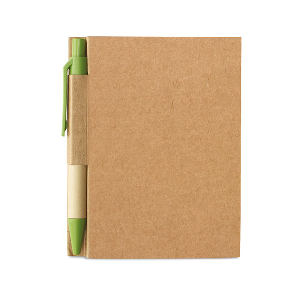 Блокнот с ручкой MO7626-48 CARTOPAD, Лайм
