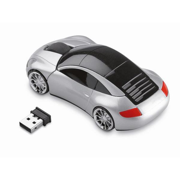 Мышь в форме авто MO7641-16 SPEED, матовое серебро