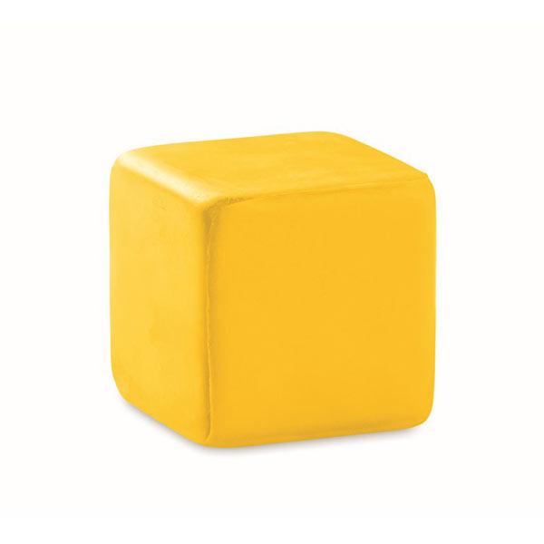 Антистресс «кубик» MO7659-08 SQUARAX, желтый