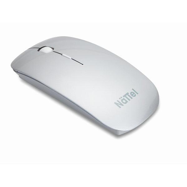 Мышь компьютерная MO8117-16 CURVY, матовое серебро