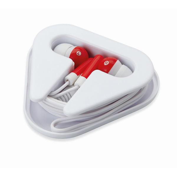 Наушники в пластиковом футляре MO8149-05 MUSIPLUG, красный