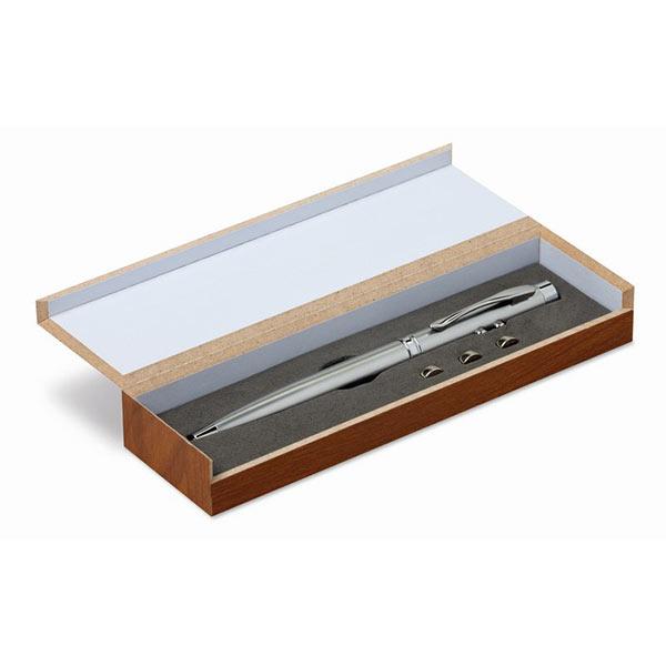 Ручка с лазерной указкой MO8193-14 ALASKA, Серебряный