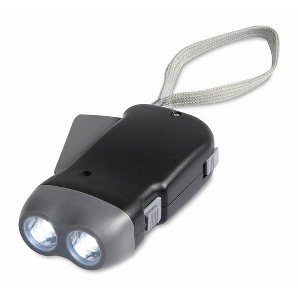 Динамо-фонарь MO8235-03 ROBIN, черный