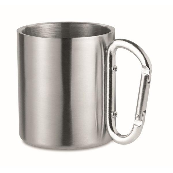 Кружка металлическая с карабиноMO8313-16 TRUMBO, матовое серебро
