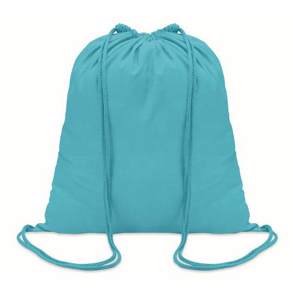 Рюкзак на шнурках 100г/см MO8484-12 COLORED, бирюзовый