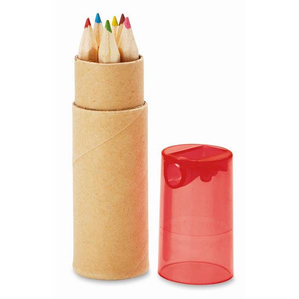 Набор карандашей MO8580-25 PETIT LAMBUT, прозрачный красный