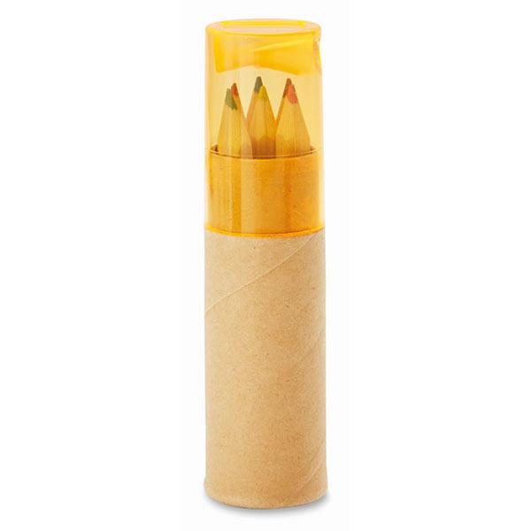 Набор карандашей MO8580-29 PETIT LAMBUT, прозрачный оранжевый