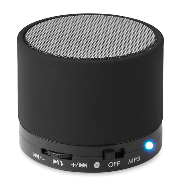 Колонка Bluetooth MO8726-03 ROUND BASS, черный