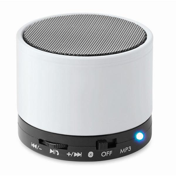 Колонка Bluetooth MO8726-06 ROUND BASS, белый