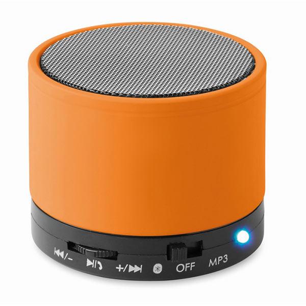 Колонка Bluetooth MO8726-10 ROUND BASS, оранжевый