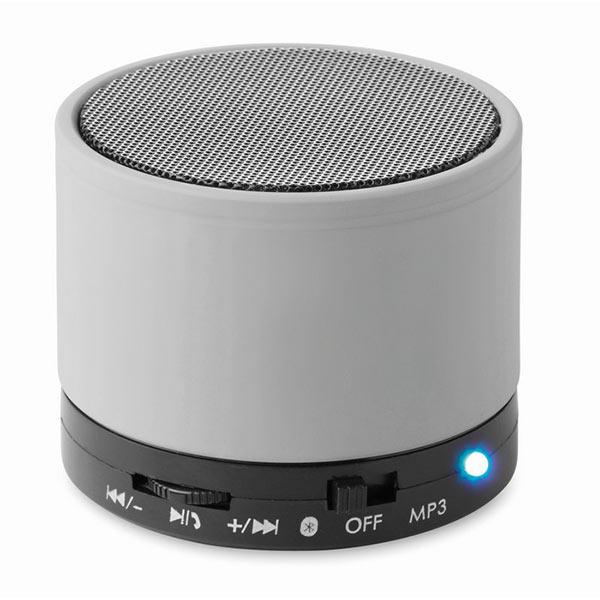 Колонка Bluetooth MO8726-16 ROUND BASS, матовое серебро
