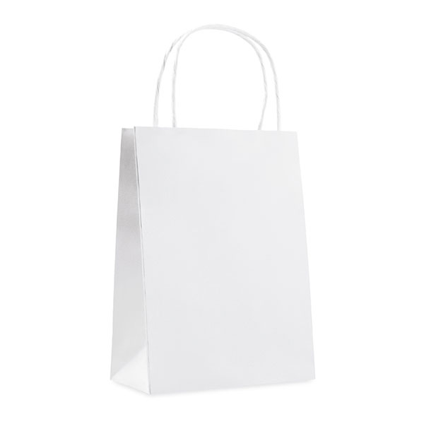 Пакет подарочный MO8807-06 PAPER SMALL, белый