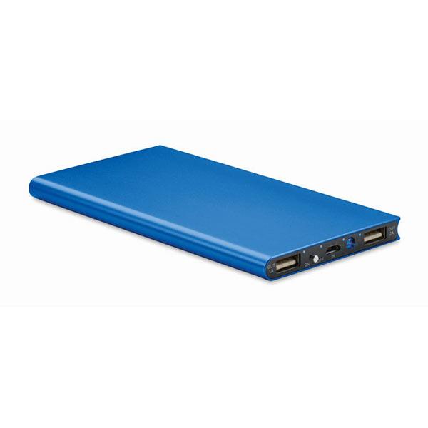 Аккумулятор на 8000 mAh MO8839-37 POWERFLAT8, темно-синий