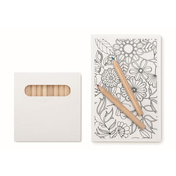 Набор карандашей MO8850-06 PAINT&RELAX, белый