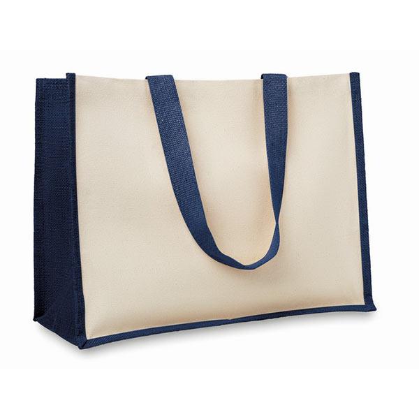 Сумка шоппер из джута MO8967-04 CAMPO DE FIORI, синий