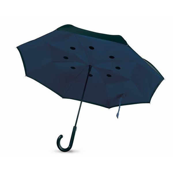 Reversible umbrella MO9002-04 DUNDEE, синий