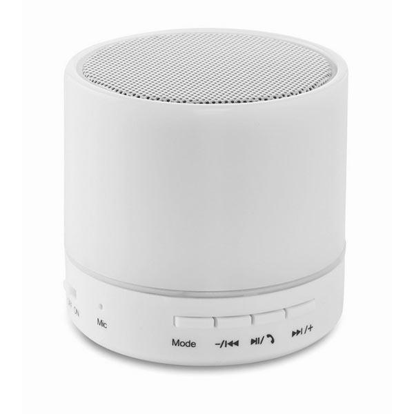 Колонка Bluetooth MO9062-06 ROUND WHITE, белый