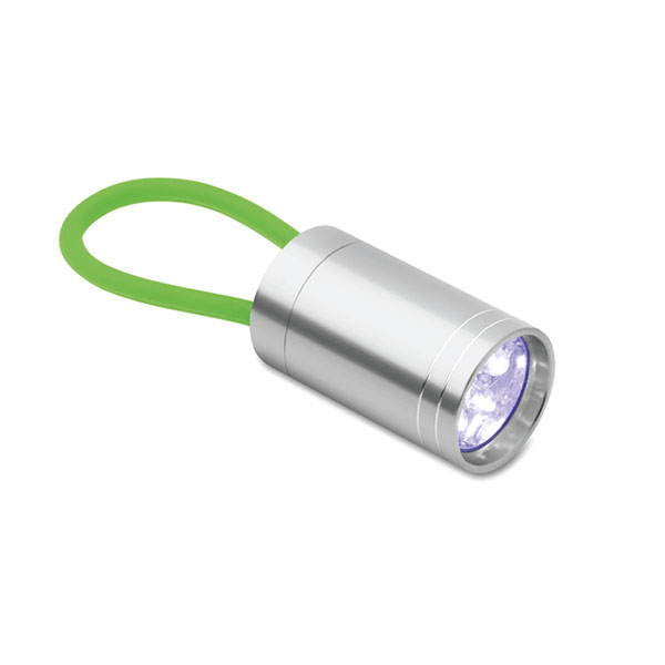 Aluminium torch glow in dark MO9152-09 GLOW TORCH, зеленый