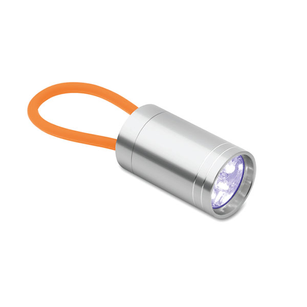 Aluminium torch glow in dark MO9152-10 GLOW TORCH, оранжевый