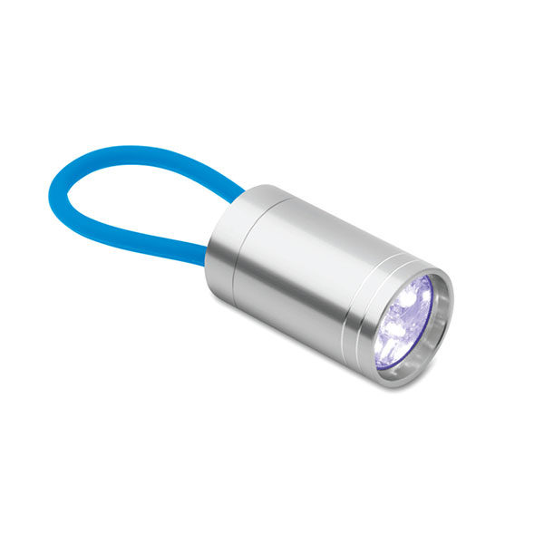 Aluminium torch glow in dark MO9152-12 GLOW TORCH, бирюзовый