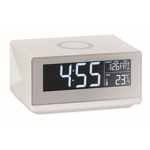 Часы с беспроводной зарядкой MO9588-06 SKY SPEAKER, белый