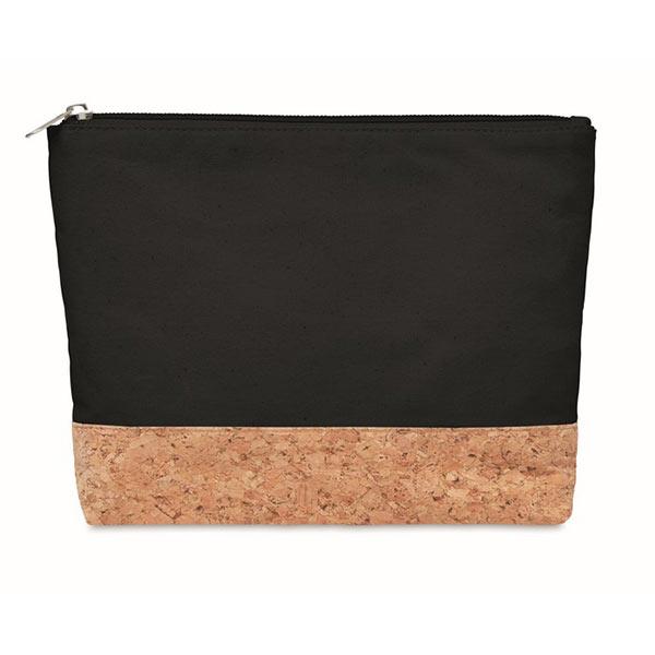 Косметичка из пробки и хлопка MO9817-03 PORTO BAG, черный