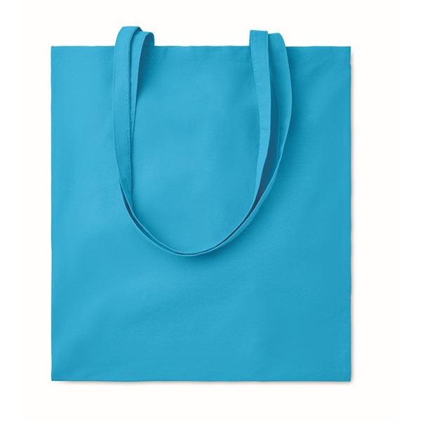 Хлопковая сумка 180гр / м2 MO9846-12 COTTONEL COLOUR ++, бирюзовый