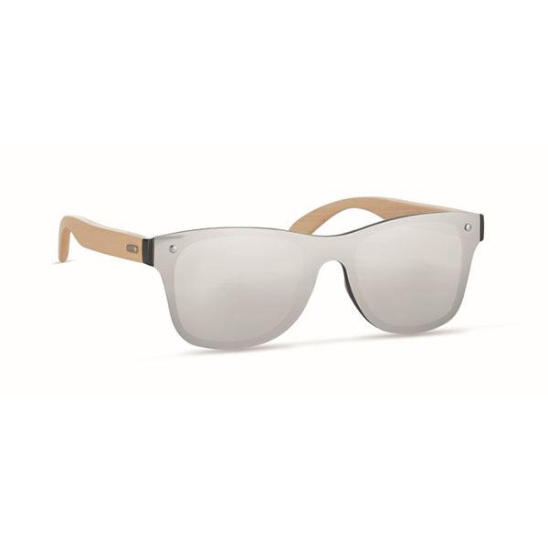 Солнцезащитные очки сплошные MO9863-17 ALOHA, блестящее серебро