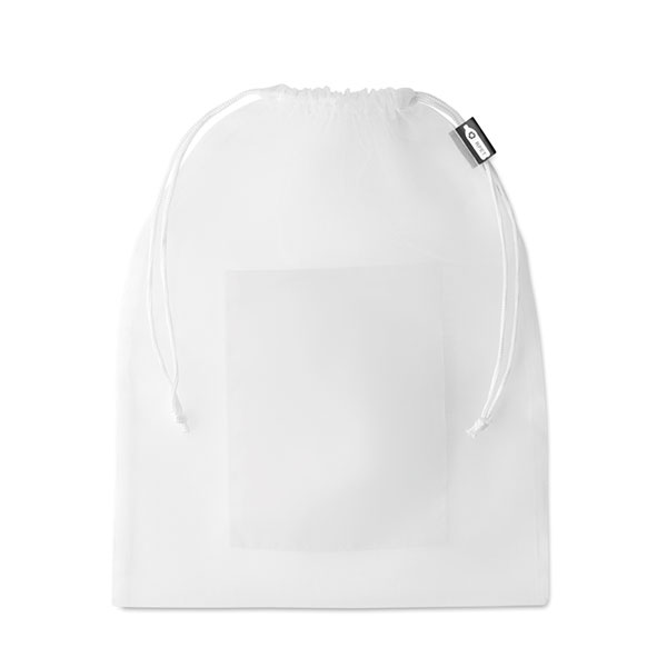 Мешок из RPET MO9880-06 VEGGIE RPET, белый