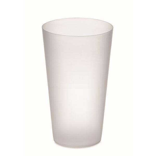 Frosted PP cup 550 ml MO9907-26 FESTA CUP, прозрачный белый